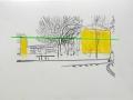 gule gavle og linie